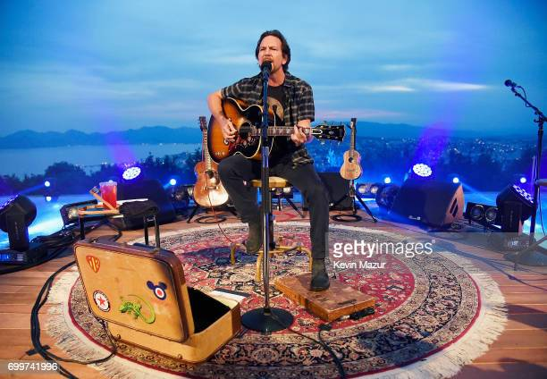 Eddie Vedder performs during A Special Evening With Eddie Vedder presented by Citi and Live Nation at Cannes Lions at Villa Alang Alang on June 21...