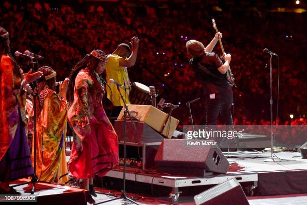 Eddie Vedder performs during the Global Citizen Festival Mandela 100 at FNB Stadium on December 2 2018 in Johannesburg South Africa