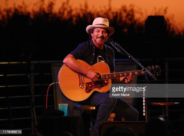 Eddie Vedder performs onstage during ROCK4EB! at Private Residence on October 06, 2019 in Malibu, California.