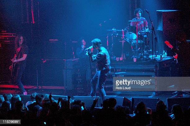 Eddie Vedder with The Strokes during Rolling Stone Magazine Celebrates Its 1000th Issue Concert at Hammerstein Ballroom in New York City New York...