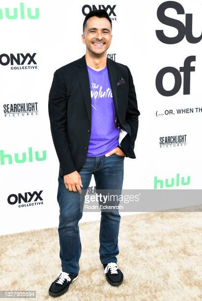 """Eddie Zamora attends the Cinespia Special Screening of Fox Searchlight and Hulu's """"Summer Of Soul"""" with Questlove at The Greek Theatre on July 09,..."""