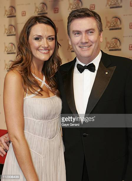 Eddy and Carla McGuire during 2006 TV Week Logie Awards Arrivals at Crown Casino in Melbourne VIC Australia