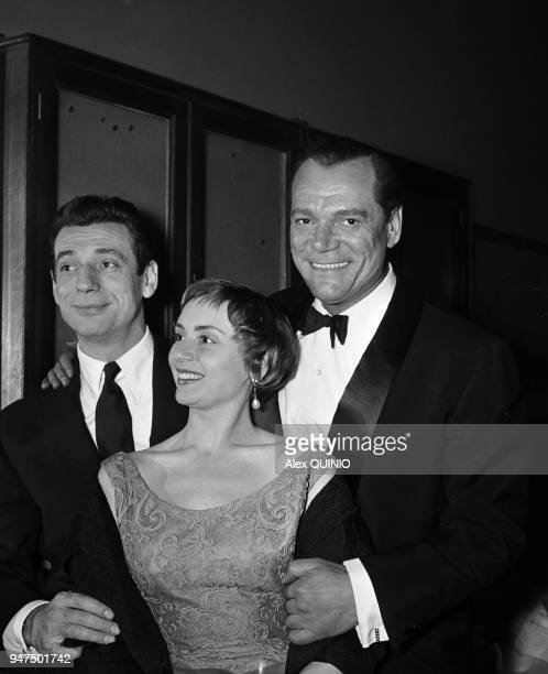 Eddy Constantine with Annie Cordy and Yves Montand