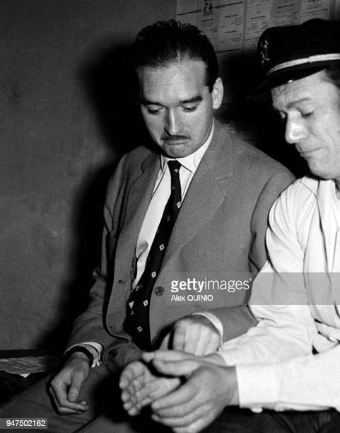Eddy Constantine with Eddie Barclay