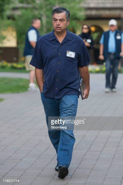 Eddy Cue senior vice president of internet software and services at Apple Inc arrives for a morning session at the Allen Co Media and Technology...