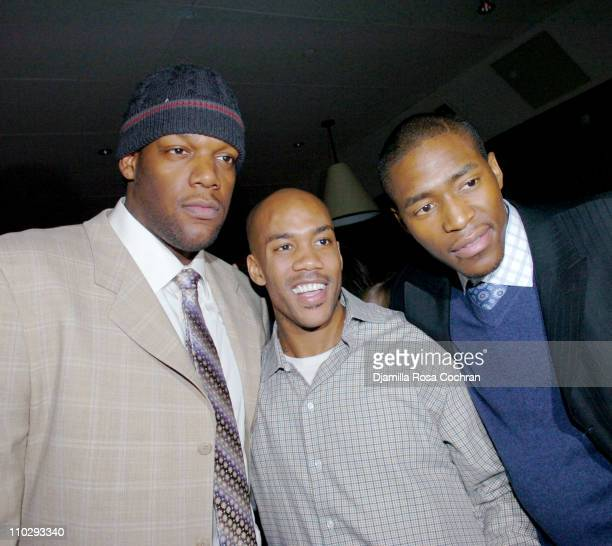 Eddy Curry Stephon Marbury and Jamal Crawford during Party at Manor for Stephon Marbury and Steve Francis of the New York Knicks February 23 2007 at...