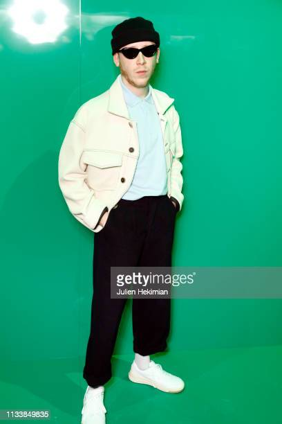 Eddy de Pretto attends the Lacoste show as part of the Paris Fashion Week Womenswear Fall/Winter 2019/2020 on March 05 2019 in Paris France