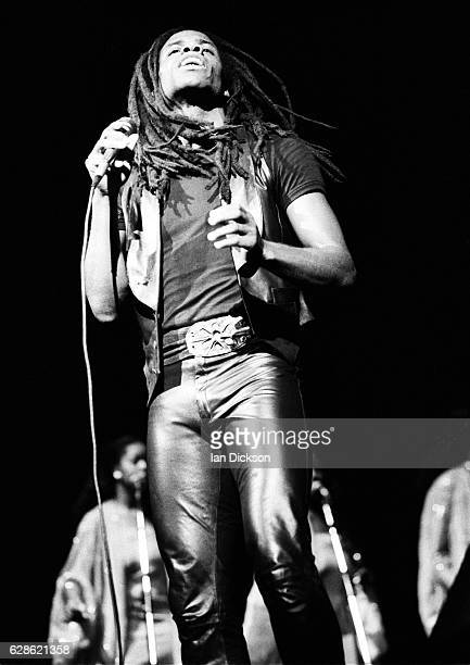 Eddy Grant performing on stage at Dominion Theatre London 23 November 1983