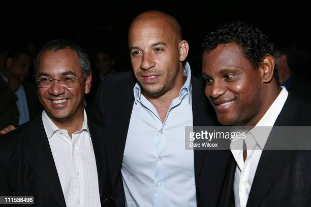 Eddy Martinez, Vin Diesel and Sammy Sosa during Brett Ratner Hosts a Party For The President Of The Dominican Republic at Private Residence in...