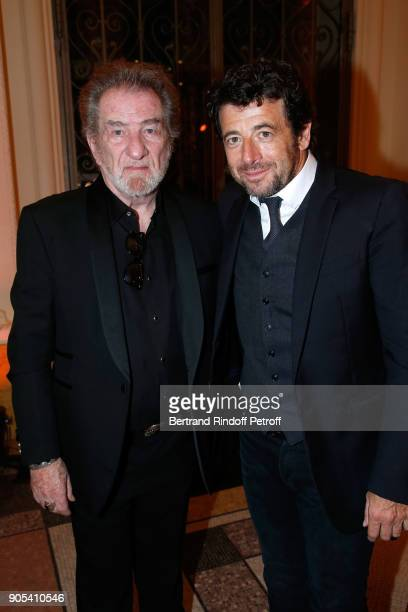 Eddy Mitchell and Patrick Bruel attend the 'Cesar Revelations 2018' Party at Le Petit Palais on January 15 2018 in Paris France
