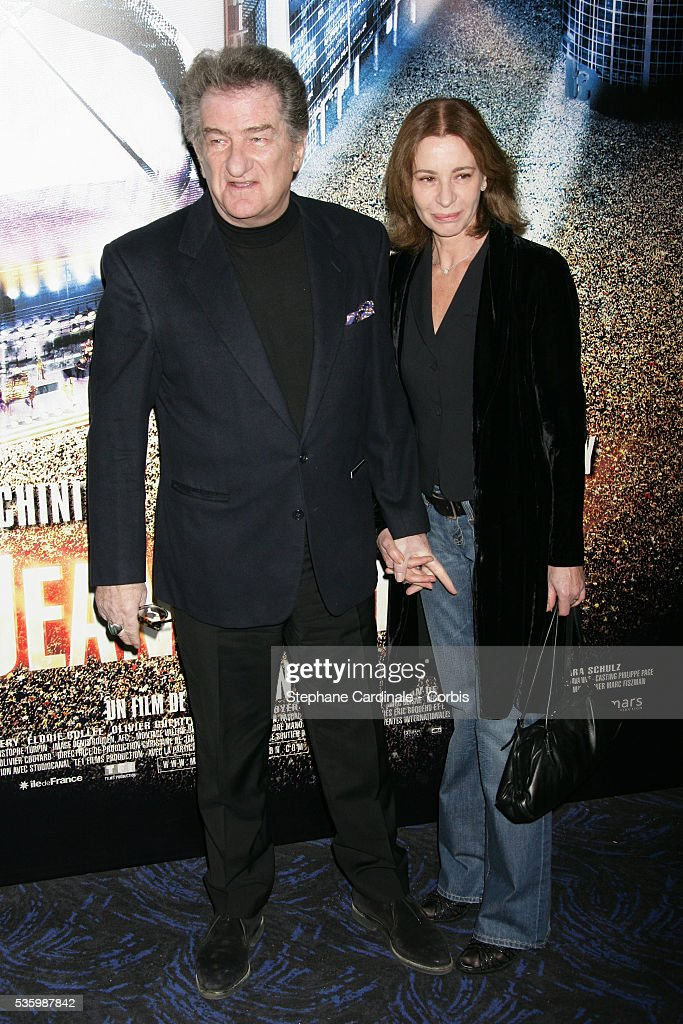 Eddy Mitchell with his wife attend the premiere of 'Jean-Philippe' in Paris.