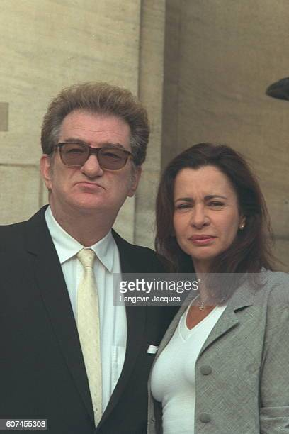 Eddy Mitchell with his wife Muriel