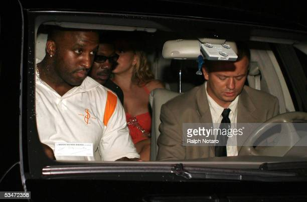 Eddy Murphy and Mariah Carey attend Pamela Andersons Superstar book launch at Prive Nightclub August 26 2005 in Miami Beach Florida