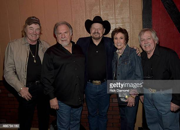 Eddy Raven Gene Watson Moe Bandy Jan Howard and John Conlee during the AllStar Whitey Shafer Benefit Hosted By Moe Bandy at The Nashville Palace on...