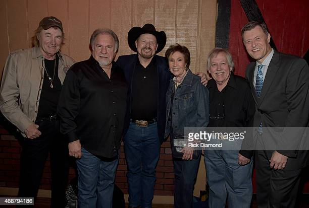 Eddy Raven Gene Watson Moe Bandy Jan Howard John Conlee and Bill Cody WSM 650 am during the AllStar Whitey Shafer Benefit Hosted By Moe Bandy at The...
