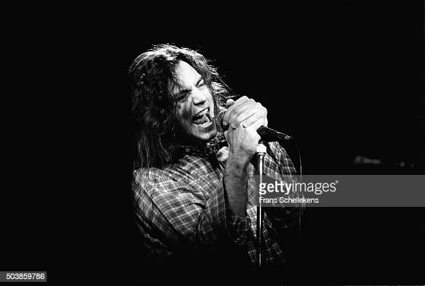 Eddy Vedder performs with Pearl Jam on February 12th 1992 at the Melkweg in Amsterdam the Netherlands