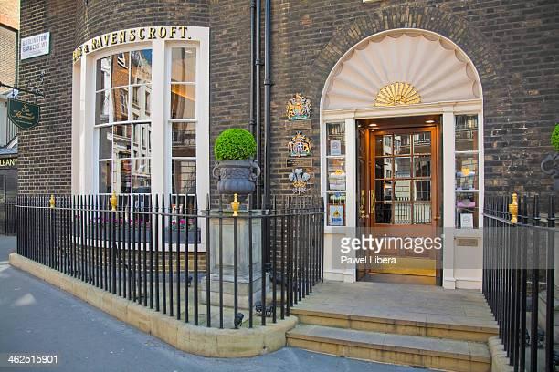 Ede and Ravenscroft Tailors Shop in Burlington Gardens Mayfair