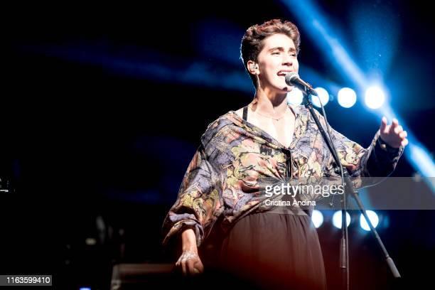 Ede, chorus of Xoel López, perfoms on stage on July 21, 2019 in Santiago de Compostela, Spain.