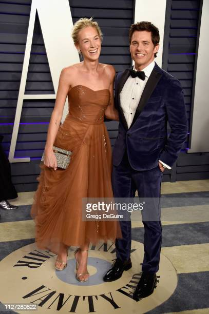 Edei and James Marsden attend the 2019 Vanity Fair Oscar Party hosted by Radhika Jones at Wallis Annenberg Center for the Performing Arts on February...