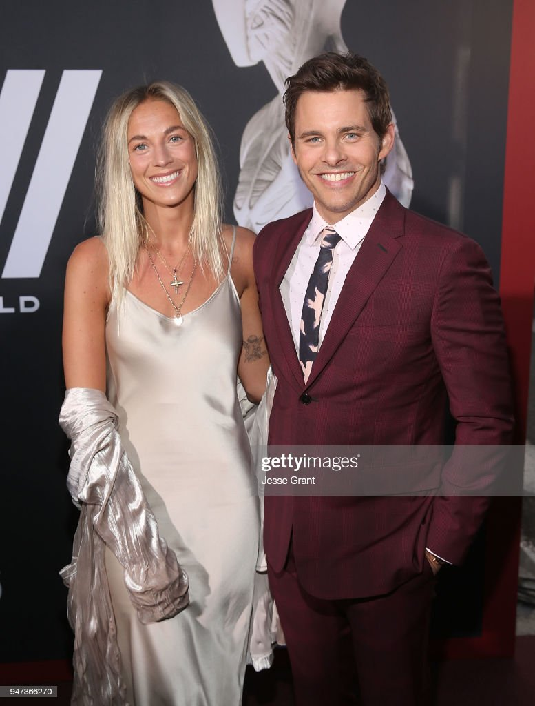 Edei and James Marsden attend the Premiere of HBO's 'Westworld' Season 2 at The Cinerama Dome on April 16, 2018 in Los Angeles, California.