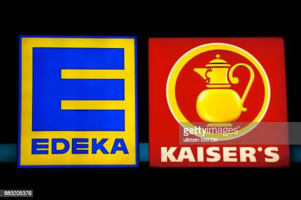 Edeka Kaiser's Logo nebeneinander