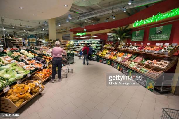 Edeka supermarket fruit and vegetables department