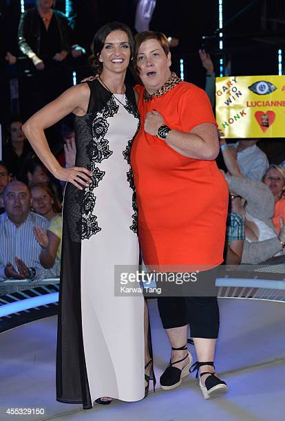 Edele Lynch and Dee Kelly are evicted from the Celebrity Big Brother house at Elstree Studios on September 12 2014 in Borehamwood England