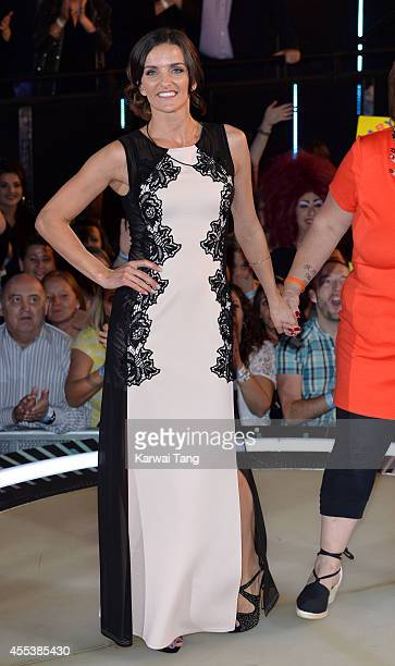 Edele Lynch is evicted from the Celebrity Big Brother house at Elstree Studios on September 12 2014 in Borehamwood England