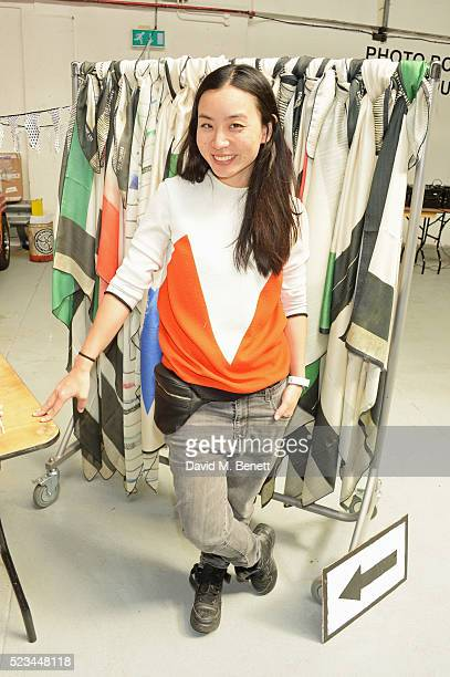 Edeline Lee attends the #SheInspiresMe Car Boot Sale presented by The Store and Brewer Street Car Park in aid of Women for Women International at...