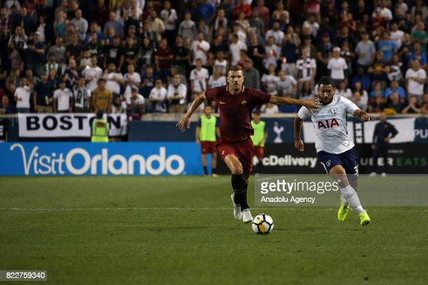 Eden Dzeko of AS Roma in action against Carter-Vickers of Tottenham during International Champions Cup 2017 friendly match between Roma and Tottenham...