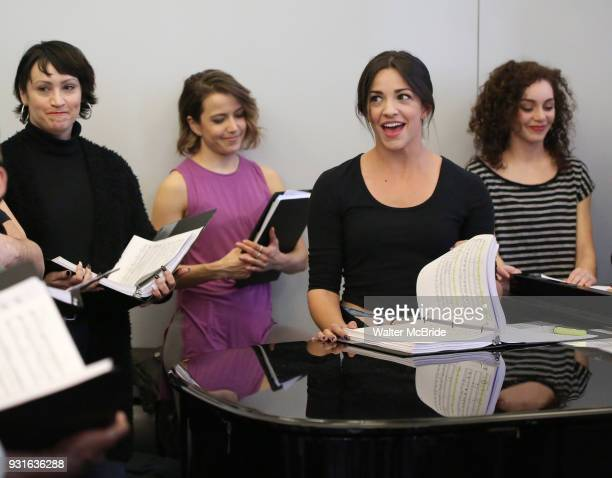 Eden Espinosa and Ana Villafane with cast during the Broadway Center Stage Rehearsal for 'In the Heights' on March 13 2018 at Baryshnikov Arts Center...