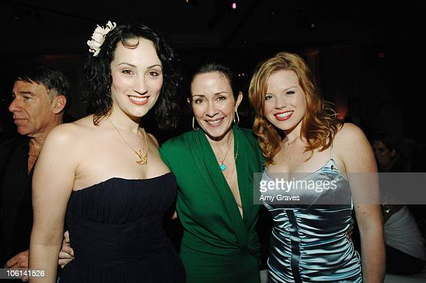 Eden Espinosa Patricia Heaton and Meagan Hilty during Wicked Los Angeles Opening Night AfterParty at Hollywood Highland in Hollywood California...