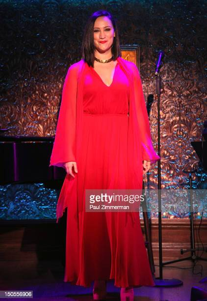 Eden Espinoza attends the press preview at 54 Below on August 21 2012 in New York City