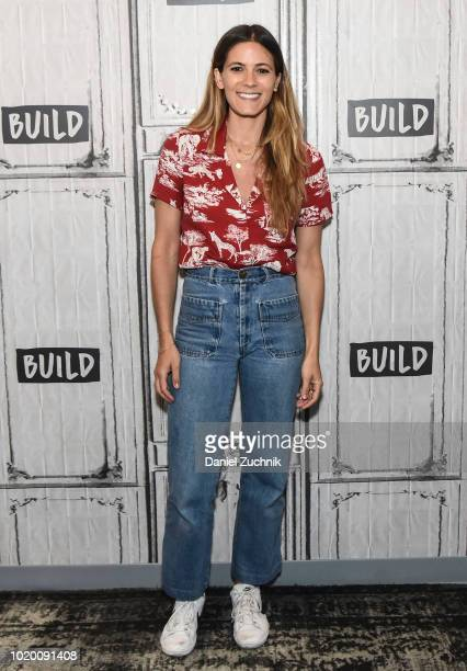 Marilu Henner attends the Build Series to discuss the Broadway show 'Gettin' The Band Back Together' at Build Studio on August 20 2018 in New York...