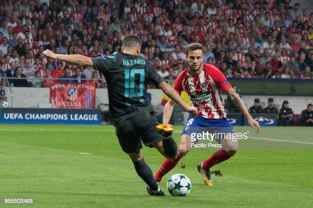 METROPOLITANO MADRID SPAIN Eden Hazard and Saul Niguez Victory in the last seconds of the game for Chelsea by 1 to 2 Griezmann Morata and Batshuayi...
