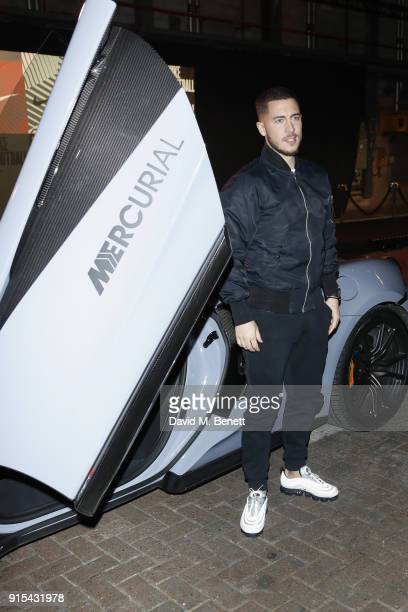 Eden Hazard attends in celebration of the 20th anniversary of Nike's most iconic football boot some of the world's best footballers arrive in South...