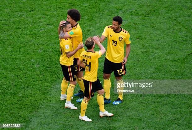 Eden Hazard midfielder of Belgium Dries Mertens forward of Belgium Axel Witsel midfielder of Belgium Moussa Dembele midfielder of Belgium during the...