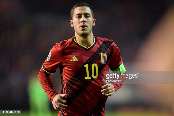 Eden Hazard midfielder of Belgium pictured during the Euro 2020 group I qualifying match Belgium against Cyprus on November 19, 2019 in Brussels,...