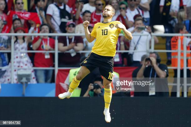 Eden Hazard of Belgium during the 2018 FIFA World Cup Russia group G match between Belgium and Tunisia at the Otkrytiye Arena on June 23 2018 in...