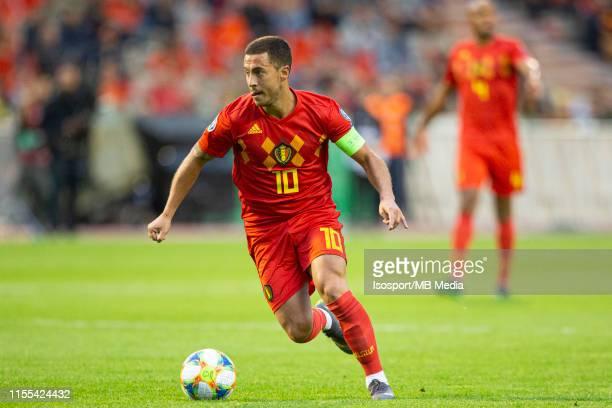 Eden Hazard of Belgium during the 2020 UEFA European Championships group I qualifying match between Belgium and Scotland at King Baudouin Stadium on...