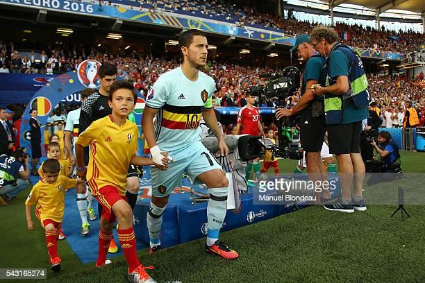 Eden Hazard of Belgium during the European Championship match Round of 16 between Hungary and Belgium at Stadium Municipal on June 26 2016 in...