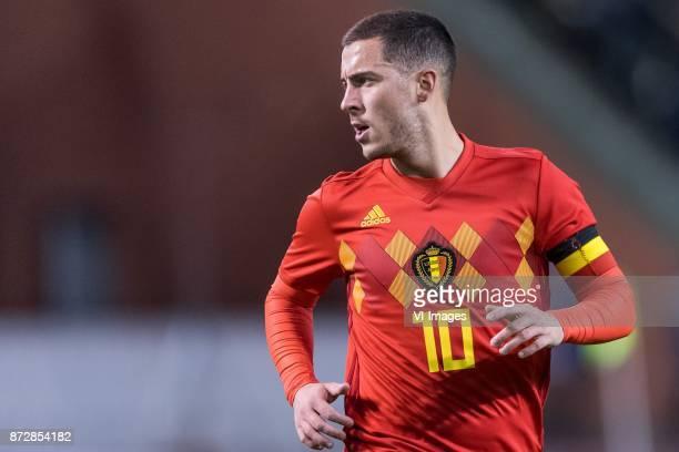 Eden Hazard of Belgium during the friendly match between Belgium and Mexico on November 10 2017 at the Koning Boudewijn stadium in Brussels Belgium