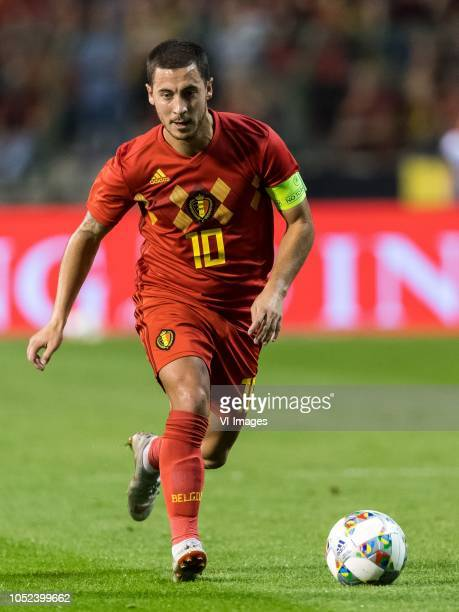 Eden Hazard of Belgium during the International friendly match between Belgium and The Netherlands at the King Baudouin Stadium on October 16 2018 in...
