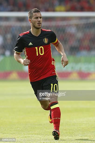 Eden Hazard of Belgium during the International friendly match between Belgium and Finland on June 5 2016 at the Koning Boudewijn stadium in Brussels...