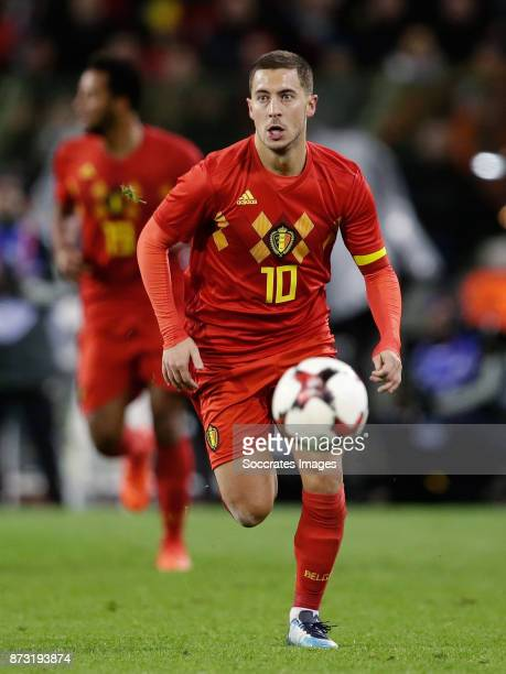 Eden Hazard of Belgium during the International Friendly match between Belgium v Mexico at the Koning Boudewijnstadion on November 10 2017 in Brussel...