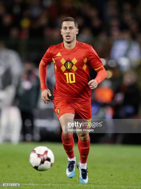 Eden Hazard of Belgium during the International Friendly match between Belgium v Mexico at the Koning Boudewijnstadion on November 10 2017 in Brussel...