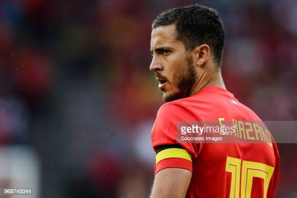 Eden Hazard of Belgium during the International Friendly match between Belgium v Egypt at the Koning Boudewijnstadion on June 6 2018 in Brussel...