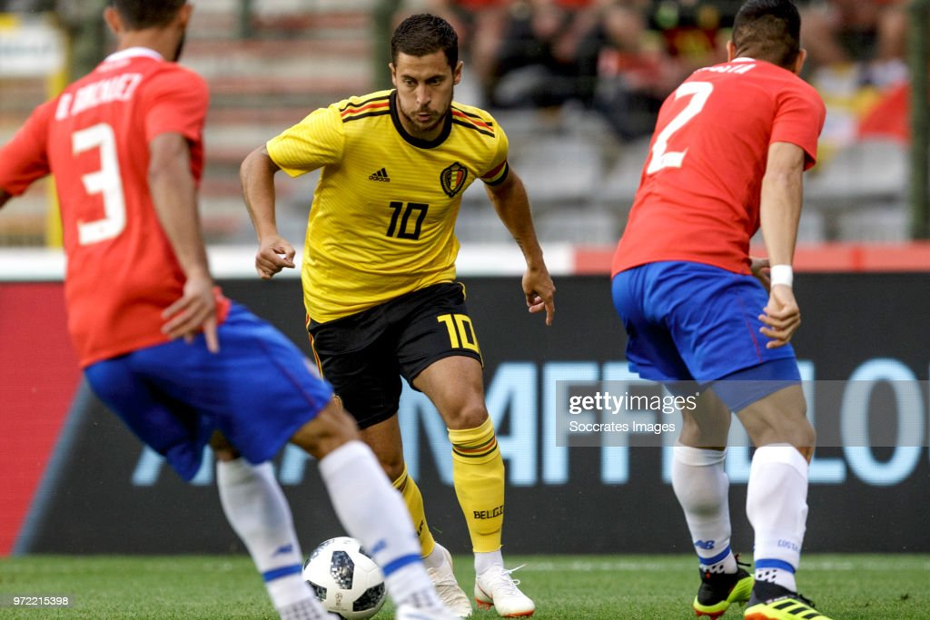 Eden Hazard of Belgium during the International Friendly match between Belgium v Costa Rica at the Koning Boudewijnstadion on June 11, 2018 in Brussel Belgium