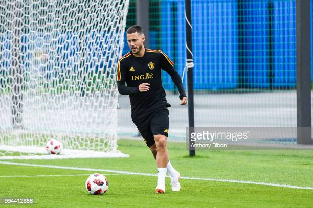 Eden Hazard of Belgium during the Training Session of Belgium on July 9 2018 in Moscow Russia