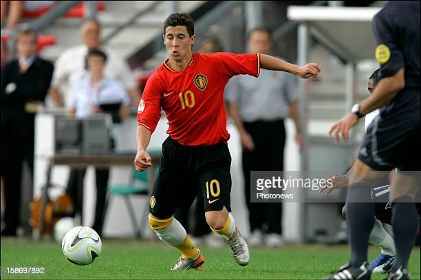 Eden Hazard of Belgium in action during the UEFA U17 European international match between Begium and England on May 4 2012 in Doornik Netherlands